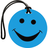 Luggage Tag Smiley Cyan