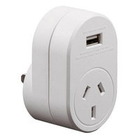 Edge AUST. to USA Travel Adaptor USB - 1 Amp Total