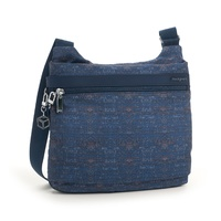Hedgren Faith Crossover RFID - BLUE WOVEN PRINT