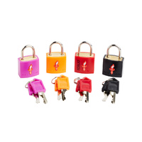 TSA Keyed Luggage Locks - 4 pack (assorted colours)