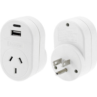 Jackson USA Travel Adaptor - 1 x USBA & 1 x USBC - 2.1 Amp Total