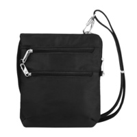 Travelon Classic Anti-Theft Slim Double Zip Crossbody Bag