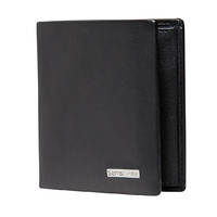 Samsonite Deluxe Leather Slimline Wallet with Coin + 3cc
