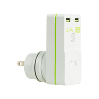Korjo JAPAN Travel Adaptor 2 X USB -  2.4 amp Total