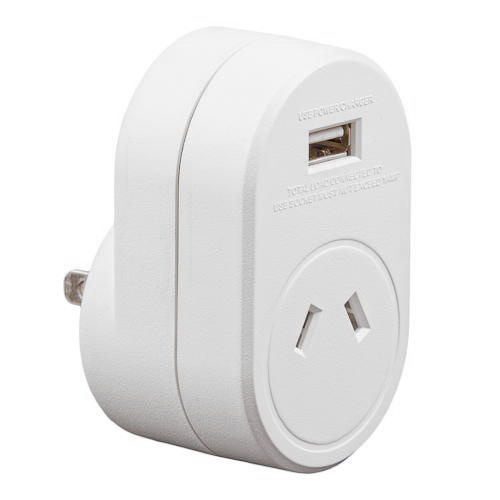Edge AUST. to JAPAN Travel Adaptor USB - 1 Amp Total