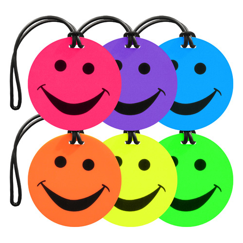 Edge Smiley Face Luggage Tags